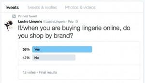 Lustre Lingerie Twitter Poll